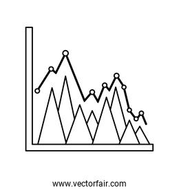 business diagram graph chart bright triangle pattern