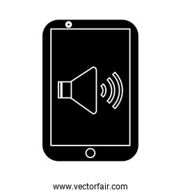 smartphone with speaker on screen icon image
