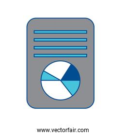 pie graph chart on sheet icon image