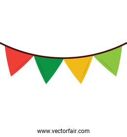 colored garland pennant decoration festive ornament