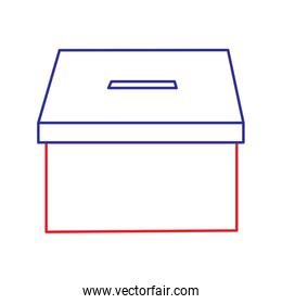 cardboard box for voting political electoral