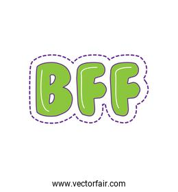 bff text calligraphy lettering patche style icon