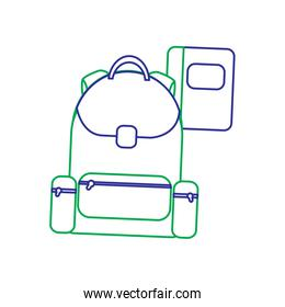 schoolbag with notebook supplies education