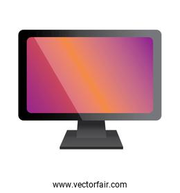 monitor of computer device technology icon