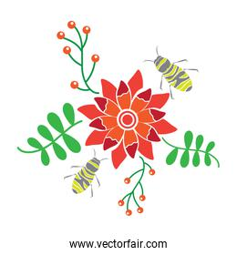 flower and insect icon image