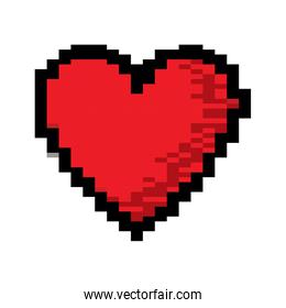 video game heart life icon