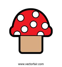 mushroom with dots icon image