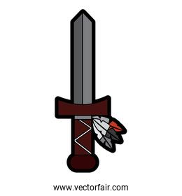 sword weapon ancient traditional icon image