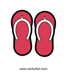 beach pair flip flops accessories icon