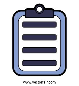 clipboard with paper icon image