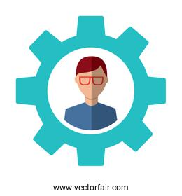 gear with person icon image