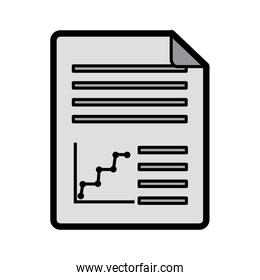 graph chart document icon image