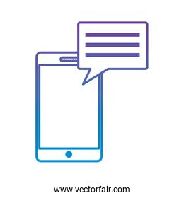 mobile phone and speech bubble chat message