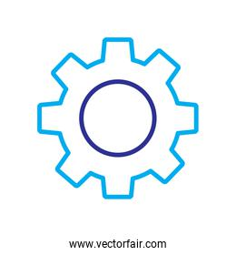 technical gear setting technology icon