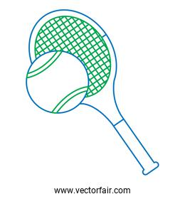 tennis racquet and ball icon image