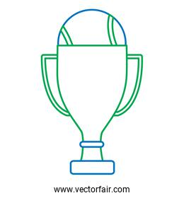 trophy with tennis ball icon image