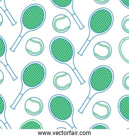 tennis racquet and ball pattern image