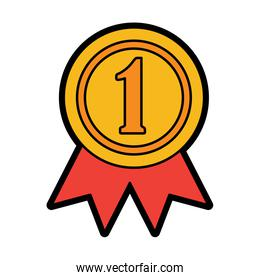 ribbon award first place icon image