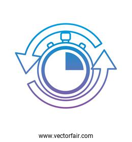 stopwatch or chronometer with arrows time icon image