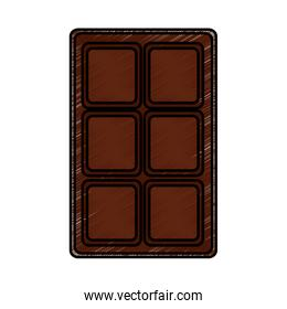 chocolate bar sweet block icon