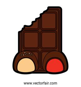 chocolate bar with bites icon image