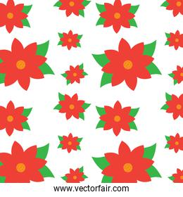 christmas poinsettia flower decoration traditional pattern