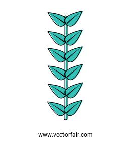 leaves with stem icon image