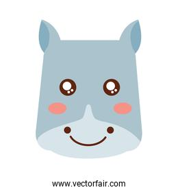 cute animal hippo head image