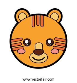 tiger cute animal isolated icon