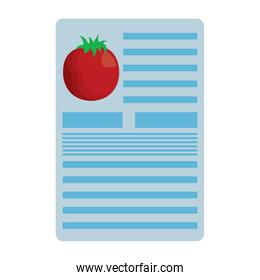 tomato nutrition facts label template