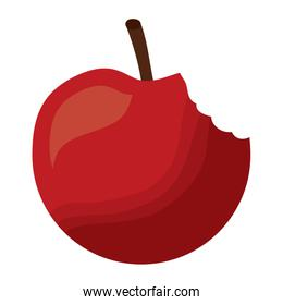 bitted apple fruit tasty icon
