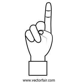 hand show forefinger finger pointing first