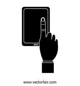 tablet with hand icon image