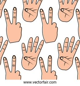 hands showing different numbers counting pattern