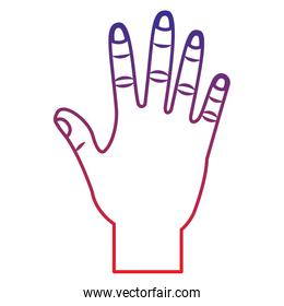 open hand gesture icon image