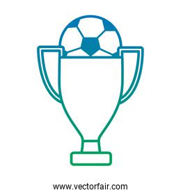 ball and trophy football soccer icon image