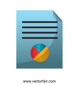 document with infographic isolated icon