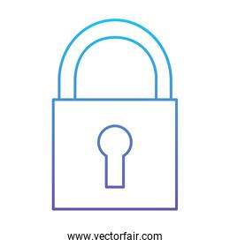 security padlock technology protection system icon