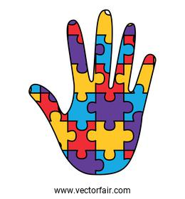 hand made puzzle pieces for autism awareness care