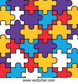 colored jigsaw puzzle pieces background