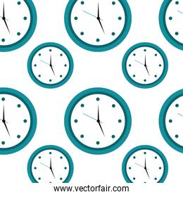 round clock time hour seamless pattern design