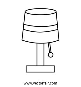 lamp light electric decoration line style icon