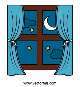 window with curtains icon image