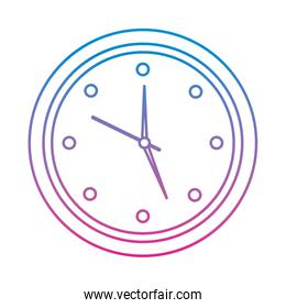 round clock time hour object icon