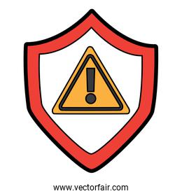 shield protection safety warning cyber concept