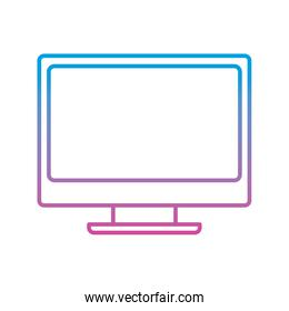 monitor screen device technology object icon