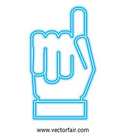 hand gesture with a raised index finger