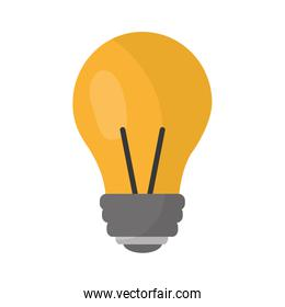 light bulb eletric illumination lamp icon