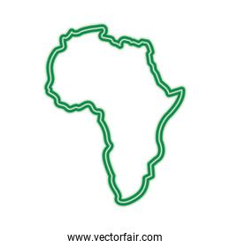 map of africa continent silhouette on a white background