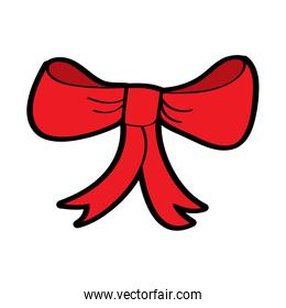 red bow ribbon delicate decoration tied